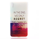 Red Sea Pattern Material TPU Soft Phone Case for Sony Z4