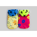 2015 New Design Lovely Pet Clothes Red/Yellow Cotton/Polar Fleece Coats/Hoodies For Dogs
