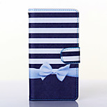 Bowknot Pattern PU Leather Full Body Case with Stand for Wiko Rainbow