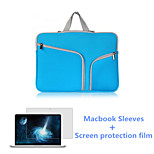 Top Selling Zipper Laptop Sleeve Bag and HD Screen Flim for Macbook Retina 15.4 inch (Assorted Colors)