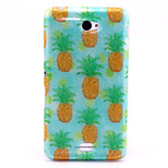 Pineapple Pattern Glitter TPU Material Soft Phone Case for Sony E4