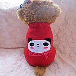 Holdhoney Red And White Bear Acrylic Sweater For Pets Dogs (Assorted Sizes) #LT15050185