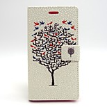 Tree Pattern PU Leather Material Card Full Body Case for Sony Xperia M2