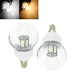 2 pcs Ding Yao E14 7W 27LED SMD 5730 750-850LM Warm White/Cool White Globe Bulbs DC 24/DC 12V