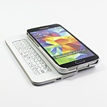 Ultra-Slim Slide-Out Detchable Multifunction Wireless Bluetooth Keyboard for Samsung Galaxy S5 (Black/White)