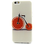 Bicycle Pattern TPU Painted Soft Back Cover for iPhone 6