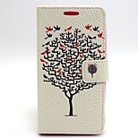 Tree Pattern PU Leather Full Body Case with Card Slot and Stand for LG G2/D802