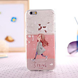 Spring View Painting Ultrathin TPU with Plastic for iPhone 6