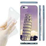 The Leaning Tower of Pisa Pattern TPU Soft Back Case for iPhone 6