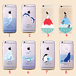 Ultra Thin Glacier Animals Transparent TPU Soft Shell for iPhone 6(Assorted Colors)