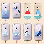 animali ghiacciaio sottili coperture di TPU trasparente ultra morbido per iPhone 6 (colori assortiti)
