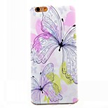 Slim Handle Two Butterflies Pattern TPU Case for iphone 6/6S