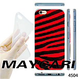 MAYCARI® Red and White Stripe Gird Pattern TPU Soft Transparent Back Case for iPhone 6