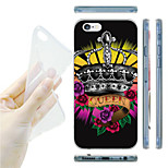 Crown Pattern TPU Soft Back Case for iPhone 6/6S