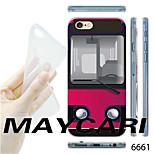 MAYCARI®Bus Pattern Transparent TPU Soft Back Case for iPhone 6