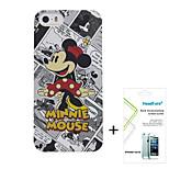 cómics minnie disney cubren caso gratis con protector de pantalla para el iphone headfore 5s / 5g iphone5s / 5g