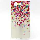 Colorful Petal Pattern TPU Material Soft Phone Case for Sony Z3 Mini