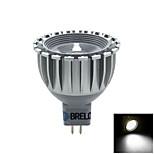 BRELONG MR16 5 W 1 COB 450 LM 5500-6000    3000-3500 K Warm White/Natural White Spot Lights AC 12 V