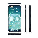 Blue Dream Pattern Transparent Silica Gel Edge Back Case for iPhone 6 Plus