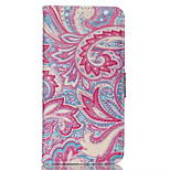 Pink Flowers Pattern PU Leather Double-Sided  Phone Case For iPhone 6 Plus