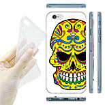 Flower Skull TPU Soft Back Case for iPhone 6