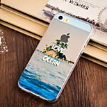 modello blu oceano TPU custodia morbida per iPhone 5 / 5s