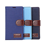 Denim Pattern Cloth Horizontal Flip Magnetic Buckle Leather Case with Card Slots & Holder for G4