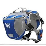 Packung Hund Satteltasche Rucksack Tasche Schnellverschluss Rucksack Hunde Tasche für Outdoor-Wandercamping Ausbildung Transportbox