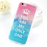 Queen Painted Scenery Series Imperial Crown TPU Soft Case for iPhone 6