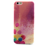 Beautiful Balloon Pattern TPU Painted Soft Back Cover for iPhone 6