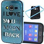 2-i-1 elsker dig til månen mønster TPU back cover med pc kofanger stødsikker blød taske til core prime g360 / core 2 g355h