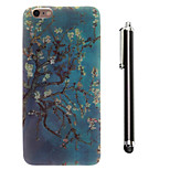 The Paintings Pattern TPU Soft Back and A Stylus Touch Pen for iPhone 6