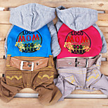 Blue/Pink Fashion Pet Cowboy Clothes Cotton Hoodies For Dogs