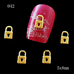 10pcs/lot 5*8mm 3D Cute Golden Lock Charm Decorations Glitter Alloy Metal Jewelry Rhinestones Accessories