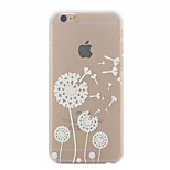 White Dandelion Pattern Ultrathin Hard Back Cover Case for iPhone 6