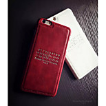 Solid Simple Pattern Real Leather Case for iPhone 6