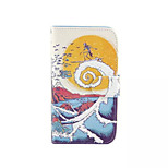 Surf  Pattern PU Leather Phone Case For Nokia 640