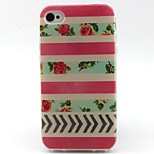 Red Stripe Pattern TPU Material Phone Case for iPhone 4/4S