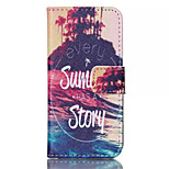 Summer Story Pattern PU Leather Phone Case For iPhone 5/5S