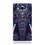 fenevad elefánt fej minta TPU puha hátlap tok Samsung Galaxy a3 a5