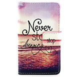 Adhere to the Dream Pattern PU Leather Painted Phone Case For Nokia N435