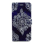 Fashion Lace Flowers Pattern Water Grain Leather PU Cover Case with Stand for iPhone 6G