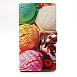 Ice Cream Ball Pattern PU Leather Material Card Full Body Case for Sony Xperia M2