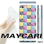 MAYCARI®Coloured Painting Mosaic Pattern TPU Soft Transparent Back Case for iPhone 6