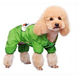 Yellow/Pink/Green Waterproof  Rain Coat For Dogs