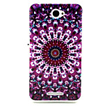 Purple stone Pattern TPU Soft Case for Sony E4