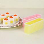 Triangle Sushi Onigiri Rice Cake Press Set DIY Sushi Bento Mould Maker (Random Color)