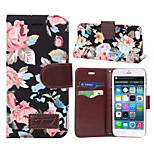 Flower Pattern PU Leather Case Card Slots Horizontal Flip for iPad iphone 6 (Assorted Colors)