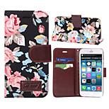 modello di fiore di carta di custodia in pelle pu slot vibrazione orizzontale per ipad iphone 6 (colori assortiti)