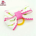 FUN OF PETS® Lovely Golden Ribbon Style Bead Decorated Rubber Band Hair Bow for Pet Dogs  (Random Color)